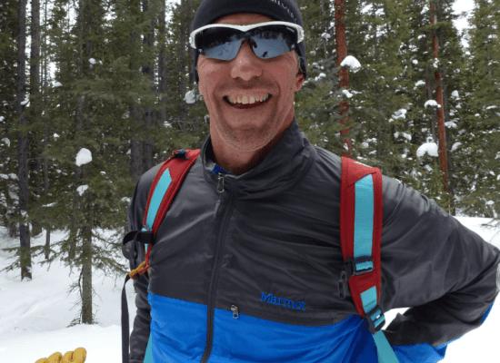 Dr Brad Hulcombe skiing