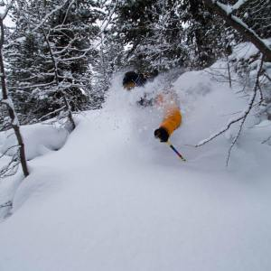 backcountry skiing powder snow face shots