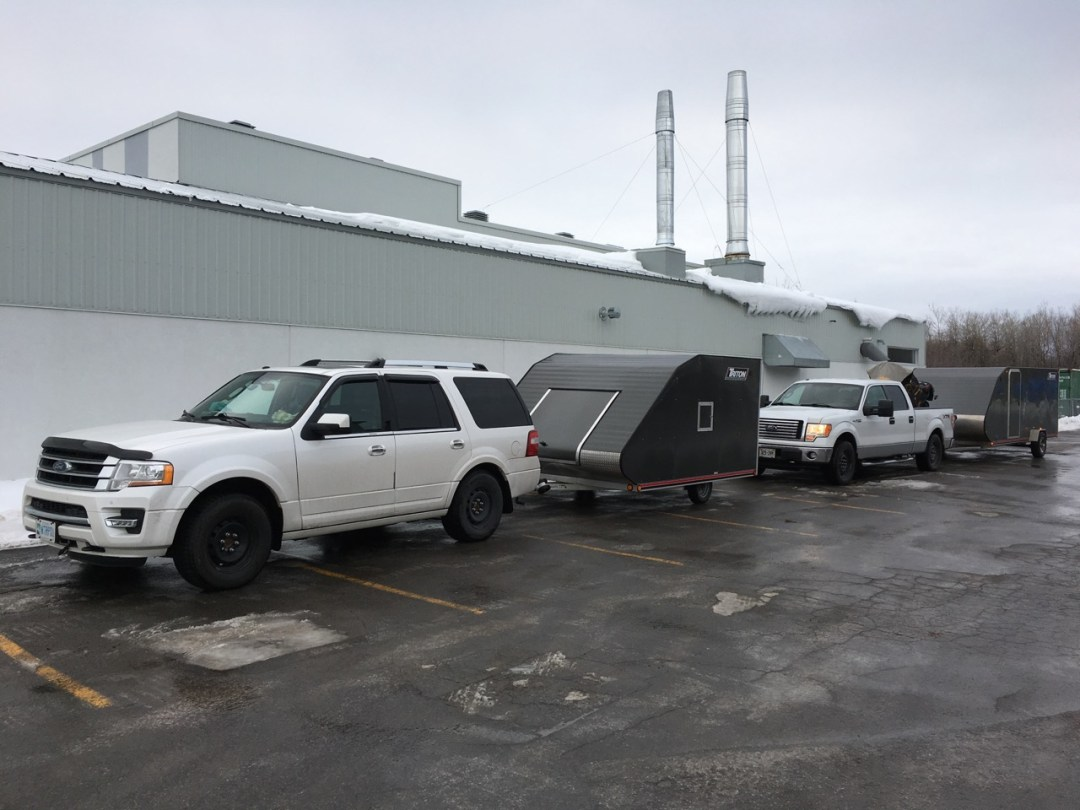 snowmobile trailers come in many sizes