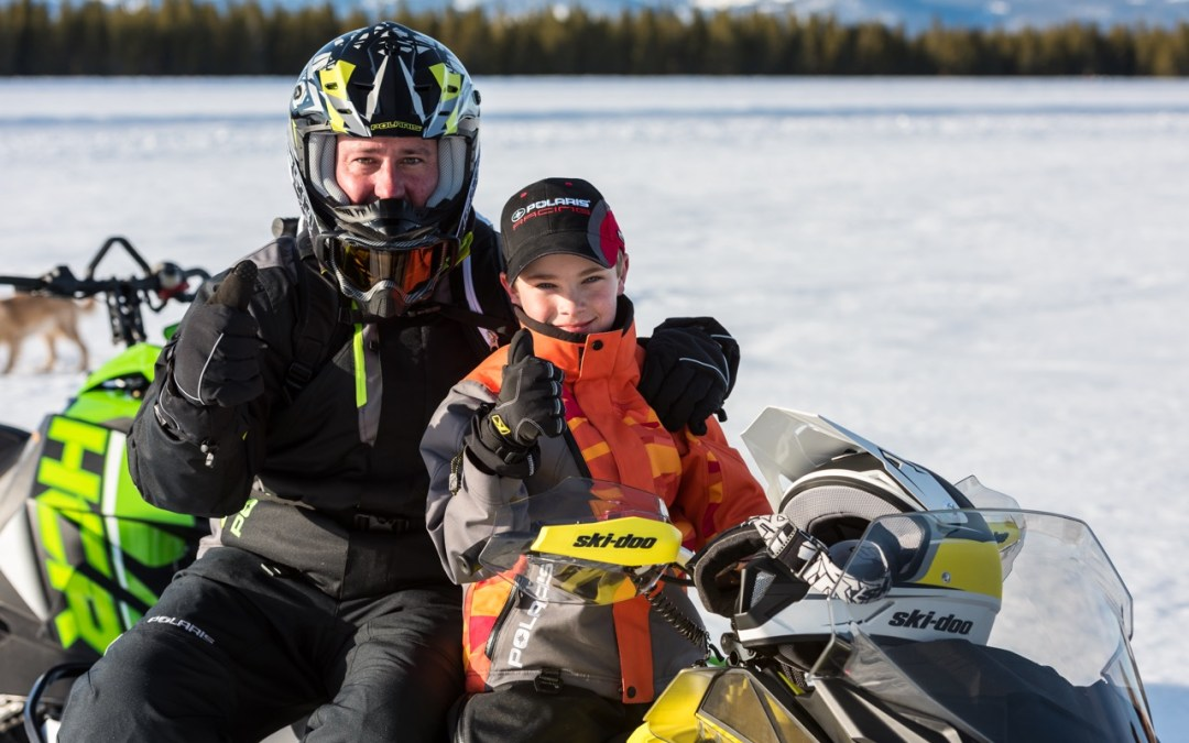 Snowmobiling With Kids On The Trail