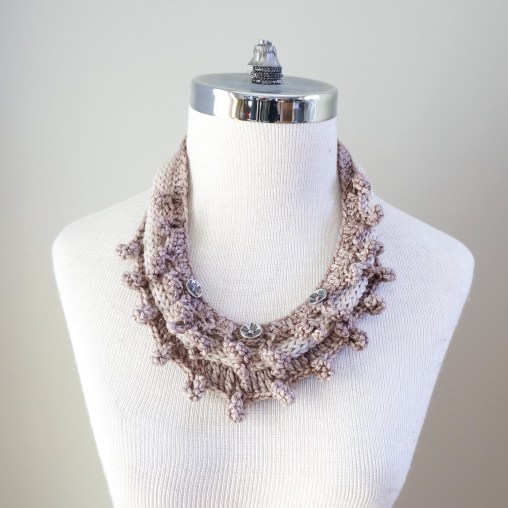 necklace scarf beige combo3