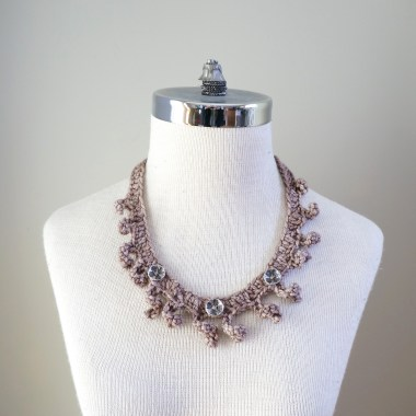 necklace scarf beige combo5