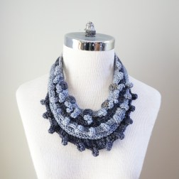necklace scarf grey combo2