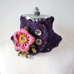 wild rose scarf purple