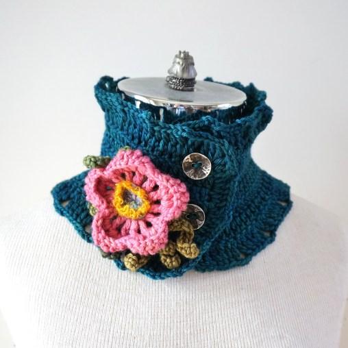 wild rose scarf teal1
