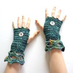 elegant-arm-warmer-teal-blue-green-mix