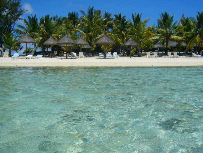 la splendida spiaggia delle Mauritius