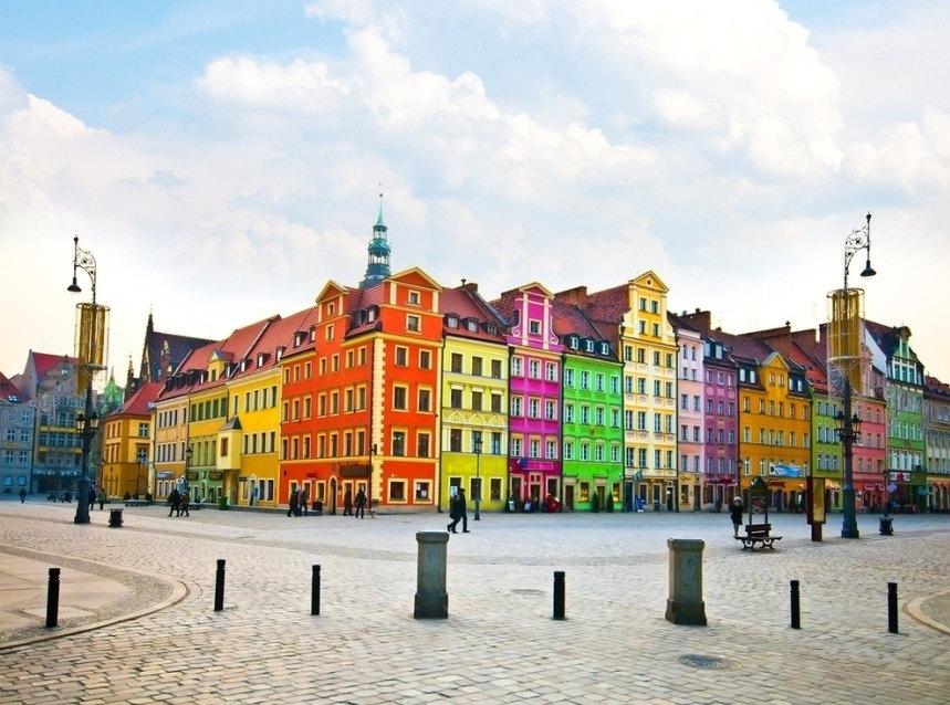 Case colorate di Breslavia