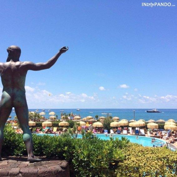 La vista dalle terme di Ischia