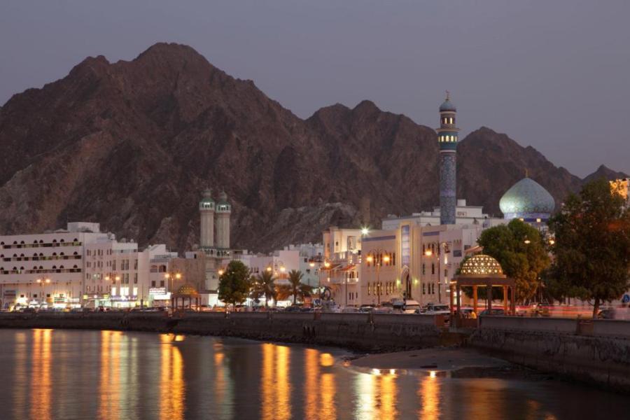 corniche di Matrah in Oman