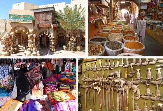 Mercato di Souq in Oman