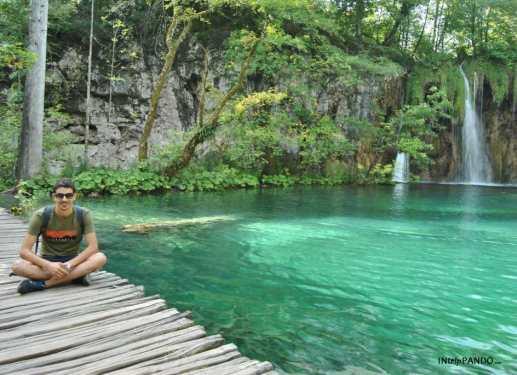 passerelle sul filo dell'acqua a Plitvice