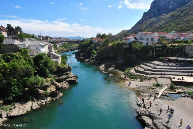 Mostar panorama dallo Stari Most