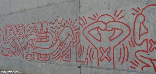 Murales di Keith Haring a Barcellona
