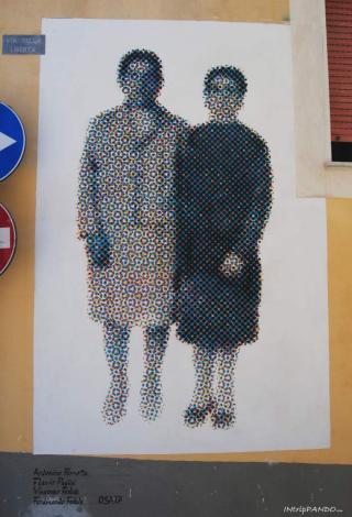 Murales eseguito tramite quadricomia stampa a 4 colori a Diamante