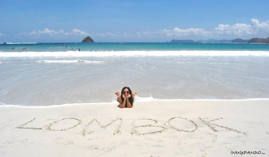 Spiaggia bianchissima di Lombok