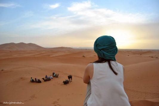 Dune del Sahara al tramonto