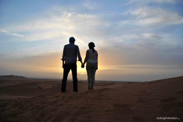 La magia del tramonto nel deserto