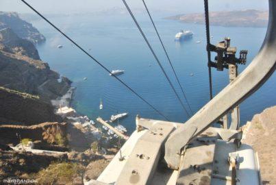 Cable car che collega Fira al porto