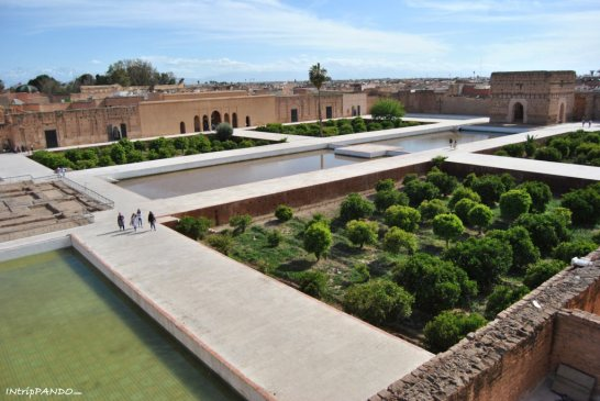 Vista dall'alto di palazzo El Badi