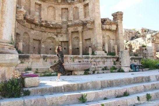 Uno dei megnifici templi di Jerash