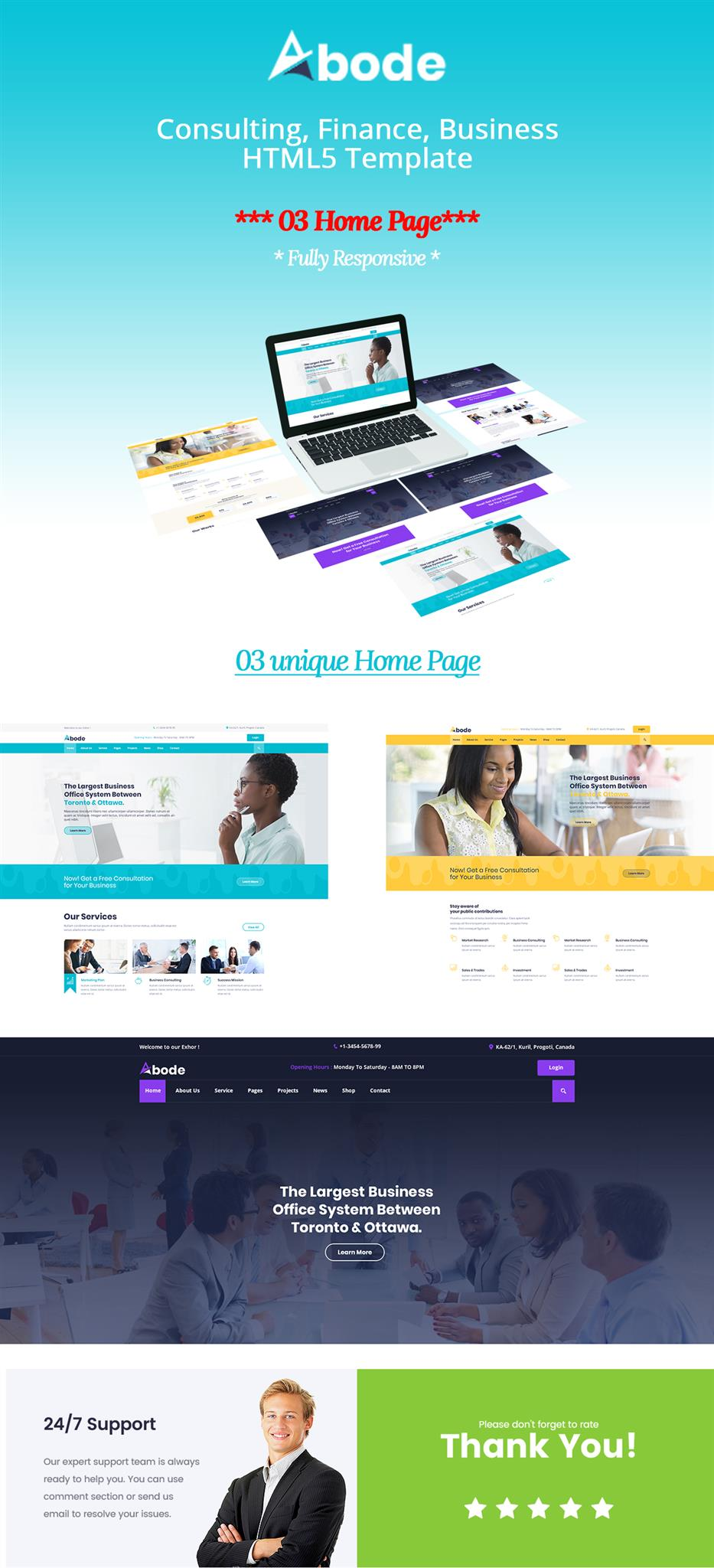 ABODE - Consulting, Finance, Business Bootstrap 4 Template