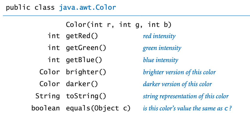 Color library API