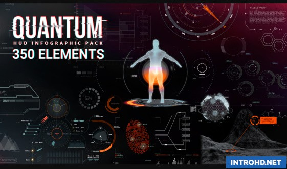 QUANTUM HUD INFOGRAPHIC » Free after effects Templates | after