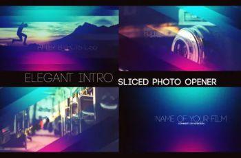Videohive Elegant Intro Sliced Photo Opener
