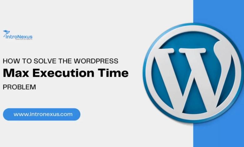 WordPress max_execution_time Problem
