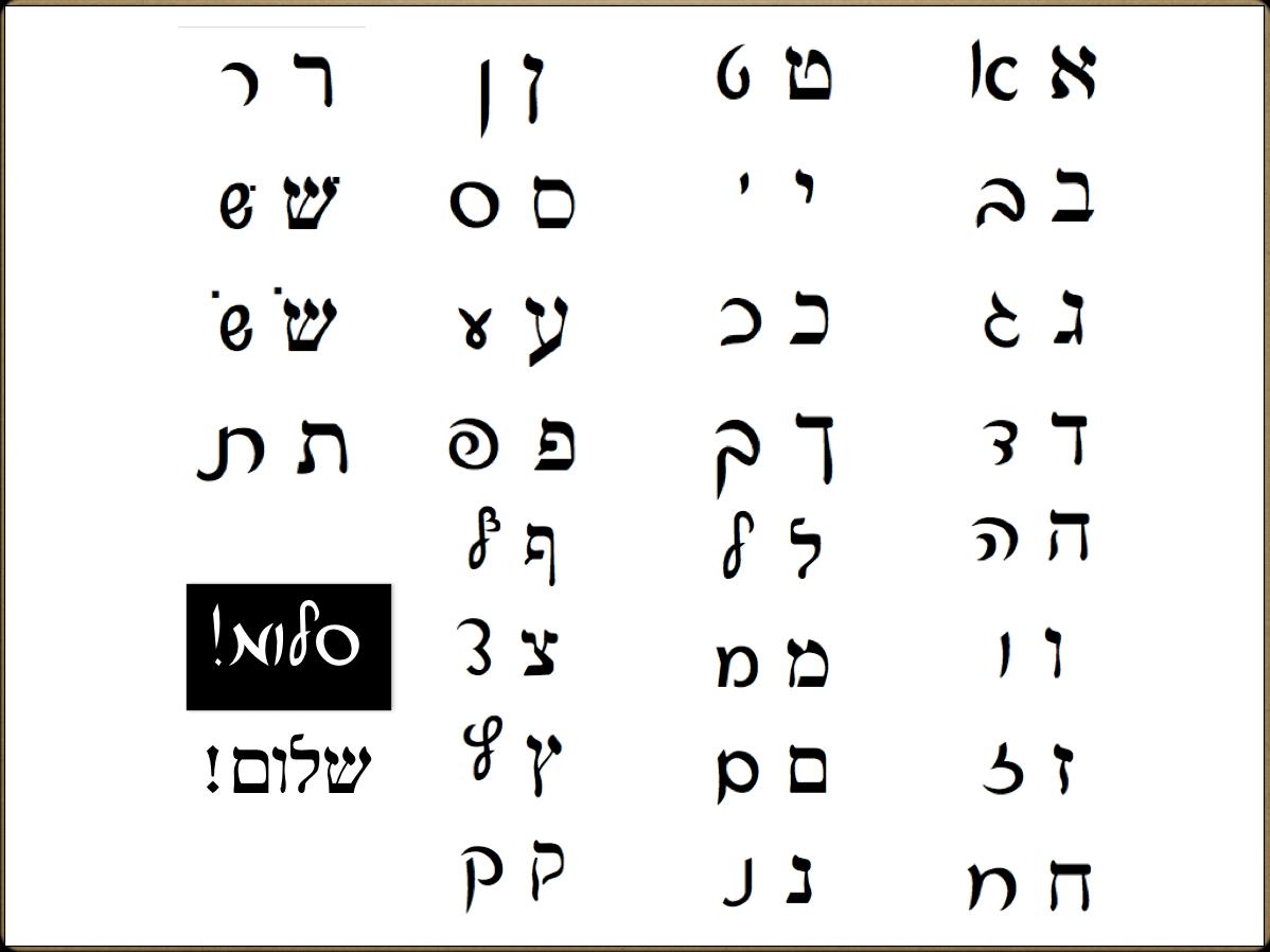 January Intro To Hebrew