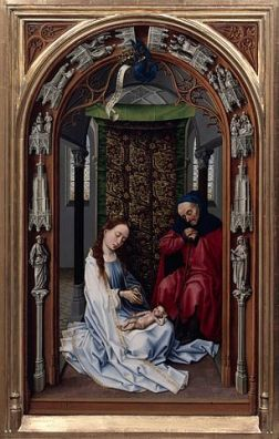 306px-Rogier_van_der_Weyden_-_The_Altar_of_Our_Lady_(Miraflores_Altar)_-_Google_Art_Project_(left_panel_without_frame)
