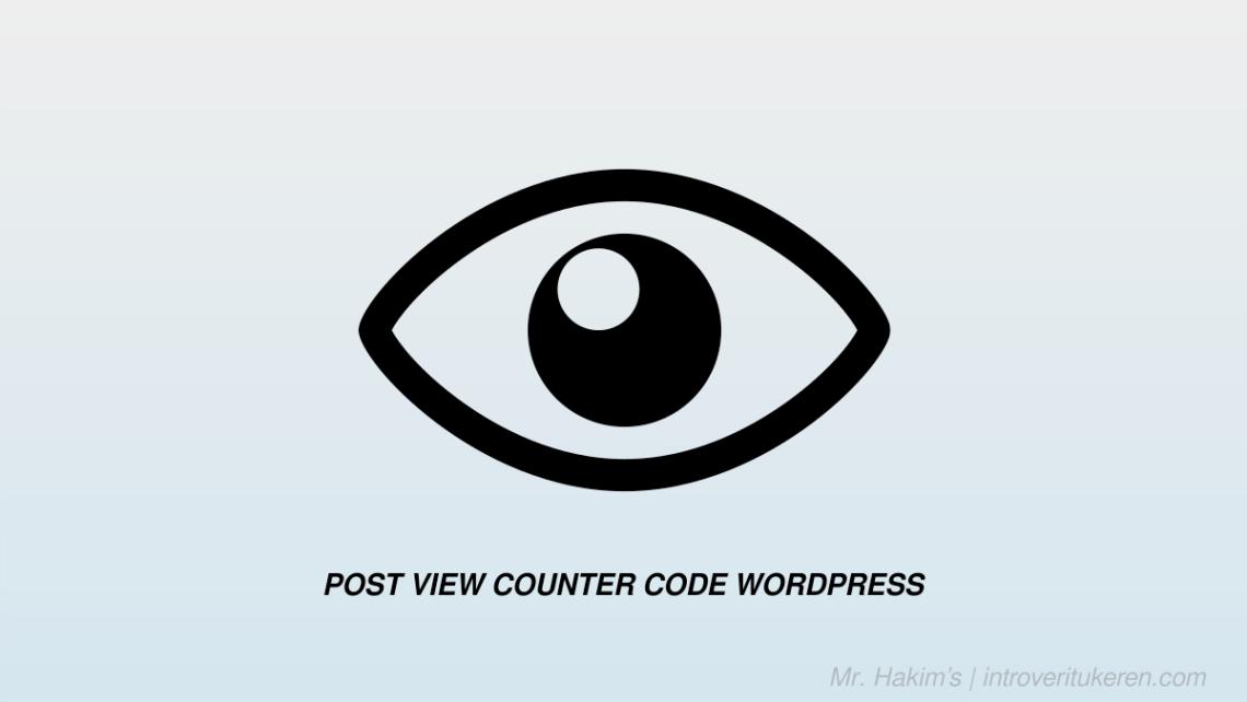 post view counter code wordpress