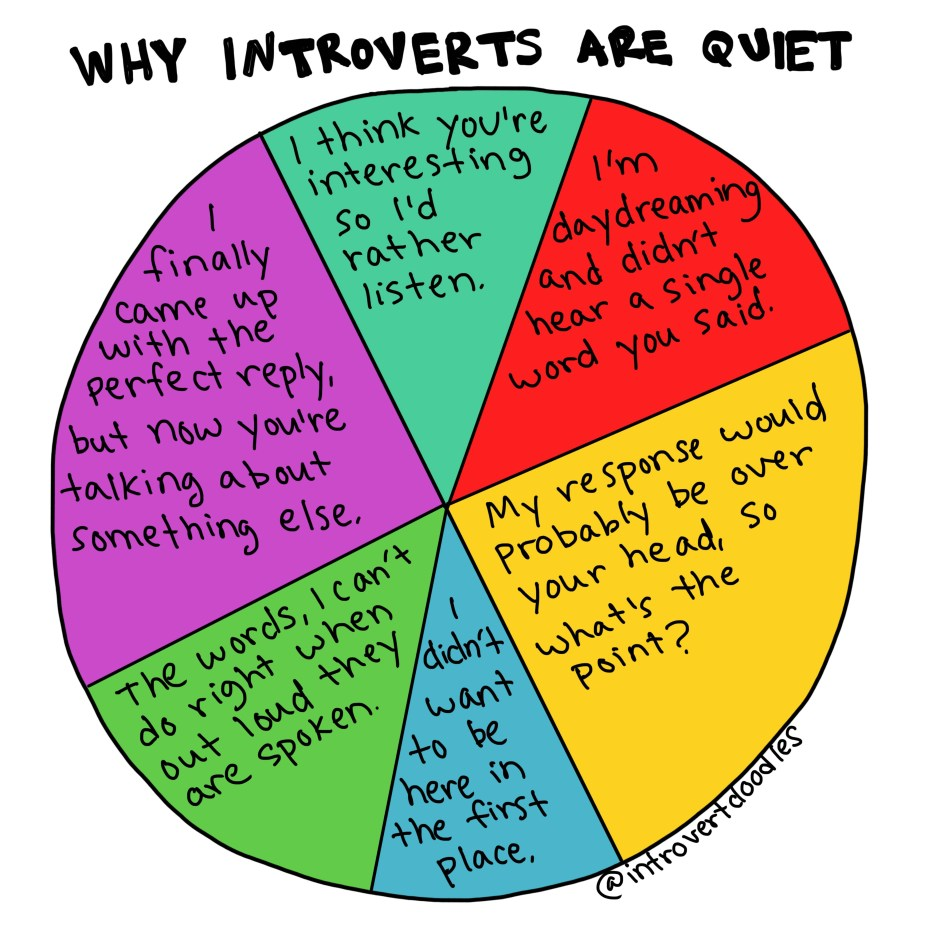 Why introverts are quiet | Introvert doodles