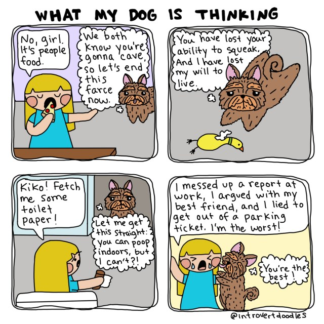 Dog thoughts | Introvert doodles