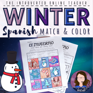 Printable Spanish Word Match and Coloring Page - TpT Product
