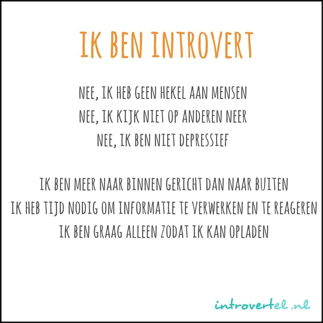 ik ben introvert