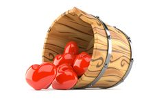 hearts-inside-wooden-bucket-isolated-white-background-96127805