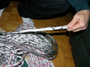 Splicing rope-to-wire