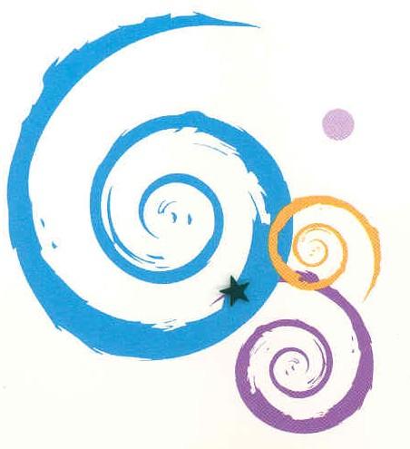 swirl blue purple orange cropped