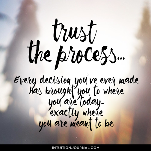 Every decision you've ever made has brought you exactly where you are meant to be.