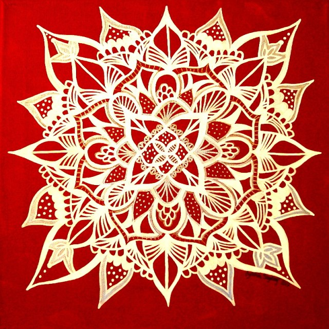 Spreading Joy – a new mandala and giveaway