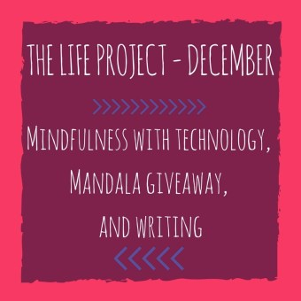 mindfulness with technology, mandala giveaway, writing