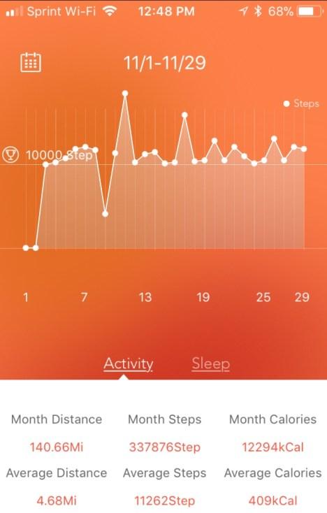 10000 steps in november