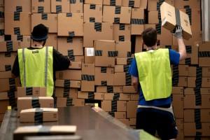 Amazon warehouse photo from WSJ.com