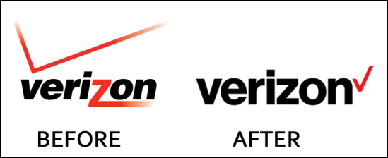 old and new 2016 verizon logo graphic signage