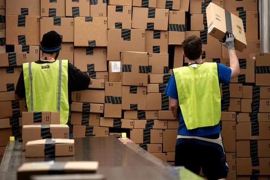 Amazon warehouse photo from WSJ.com
