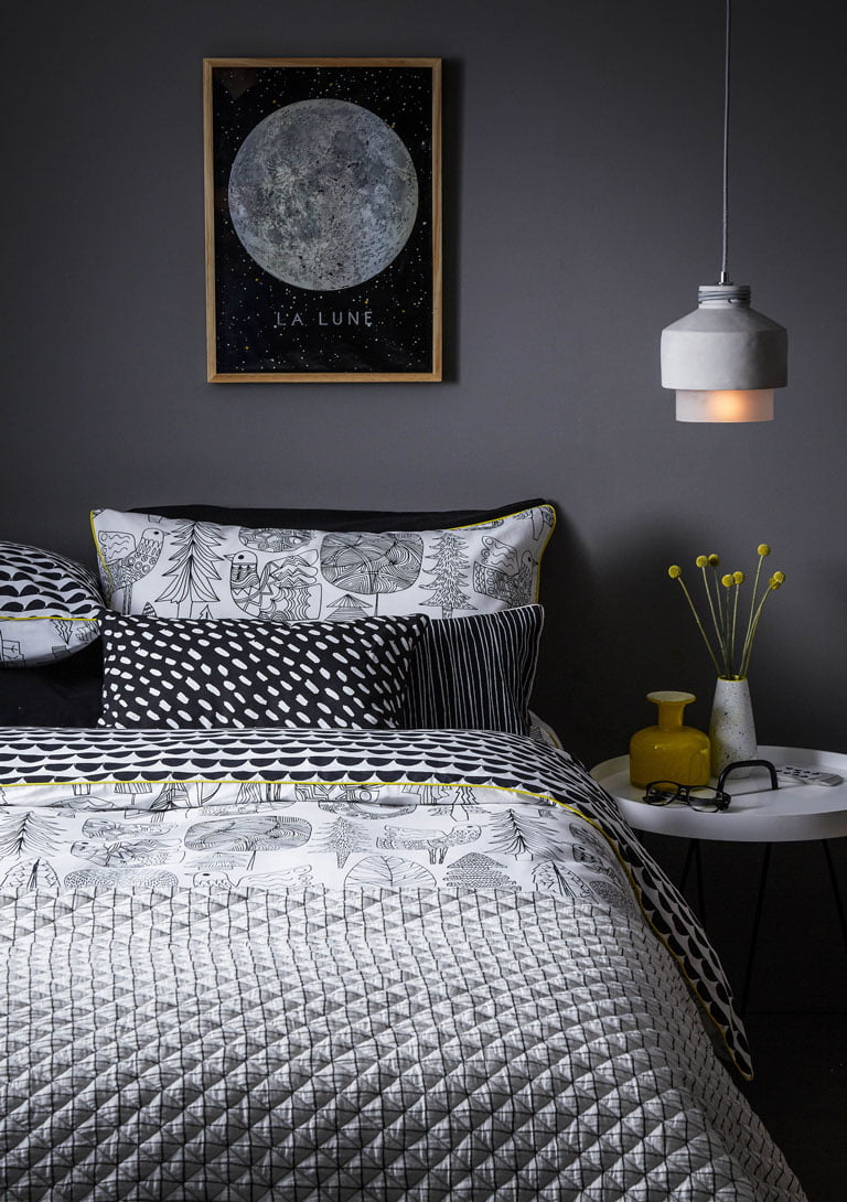 Debenhams Grey Bed Linen | Autumn Styling