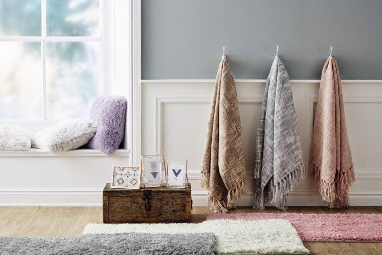 Aldi Spring Home 2018 Shaggy Rug and Cushions