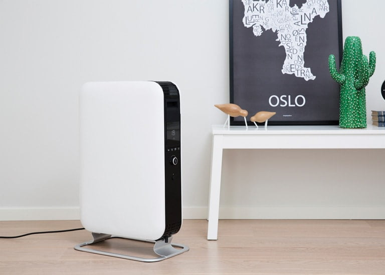 White Mill Heater - Modern minimalist oil filled radiator | Winter Hygge Essentials - In Two Homes